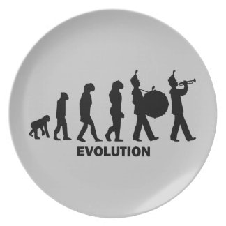 evolution marching band party plates