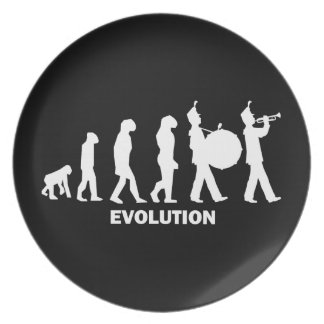 evolution marching band plate