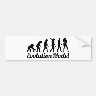 Evolution model bumper sticker