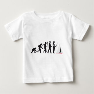 Evolution modelling ship boat baby T-Shirt