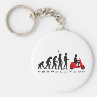 evolution more scooter basic round button keychain