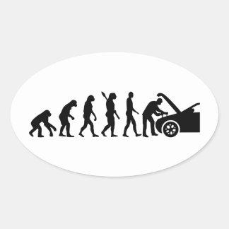 Evolution motor mechanic oval sticker
