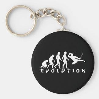 evolution Ninja Black Basic Round Button Keychain