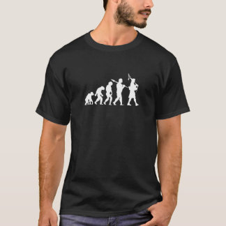 Evolution of a Scottish Bagpiper Logo Humour Funny T-Shirt