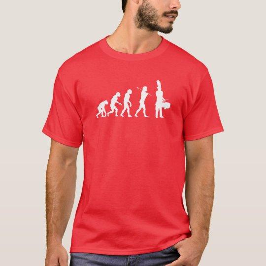 Evolution of a Tenor Drummer (dark colours) T-Shirt