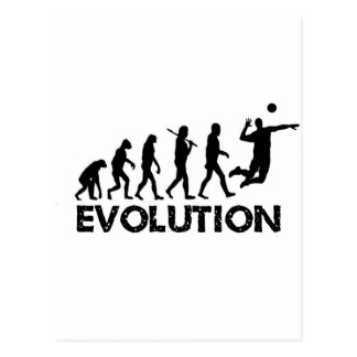 Evolution of a Volleyball Player Postcard