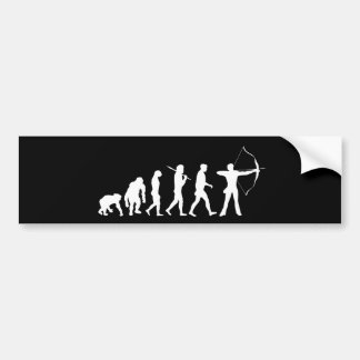 Evolution of Archery Bow and Arrow Bumper Sticker