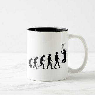 Evolution of Badminton Two-Tone Coffee Mug