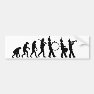 Evolution of Band Bumper Sticker