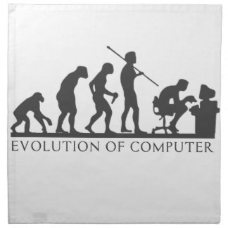 EVOlution OF COMPUTER Napkin