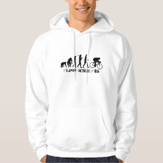 Evolution of Cycling Arty Logo Plano Texas Gear Hoodie