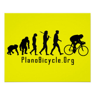 Evolution of Cycling Clean look Plano Logo Poster