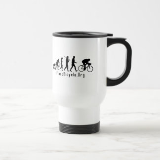 Evolution of Cycling Clean look Plano Logo Travel Mug