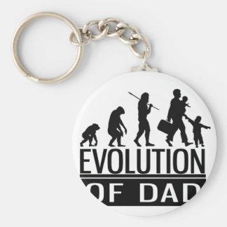evolution of dad basic round button keychain
