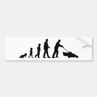 Evolution of Dad - Funny Bumper Sticker for Dad
