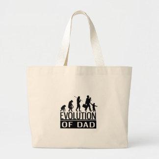 evolution of dad large tote bag