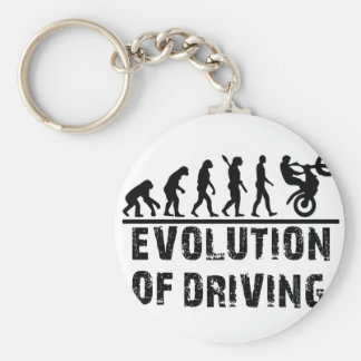 Evolution Of driving Basic Round Button Keychain