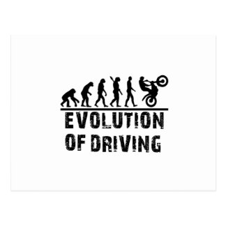 Evolution Of driving Postcard