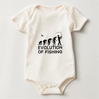 evolution of fishing baby bodysuit