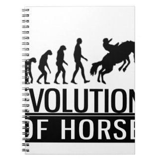 evolution of horse spiral notebooks