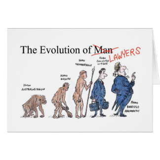 Evolution of Lawyers Greetings Card