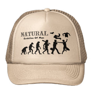 Evolution Of Liberated Man (Naturist Man) Trucker Hat
