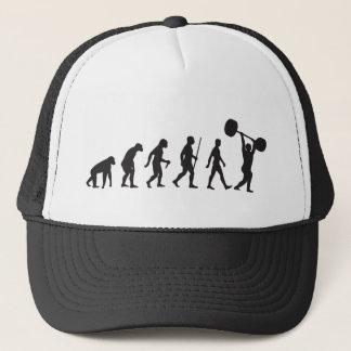 Evolution of Man - Bodybuilder Trucker Hat