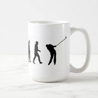 evolution of man golf golfer golfing coffee mug
