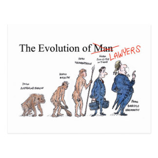 Evolution of Man postcard