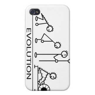 Evolution of man with rowing iPhone 4/4S case