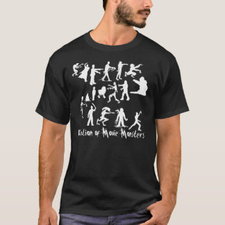 Evolution of Movie Monsters Dark T-shirt