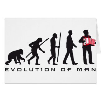 evolution OF one accordion more player sailor Card