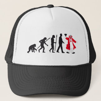 evolution OF one clown Trucker Hat