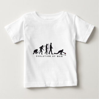 Evolution OF one curling Baby T-Shirt