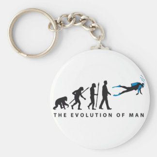 evolution OF one diving sport Keychain