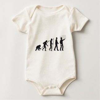 evolution OF one furniture movers Baby Bodysuit
