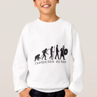 evolution OF one knight with sword and shield Sweatshirt
