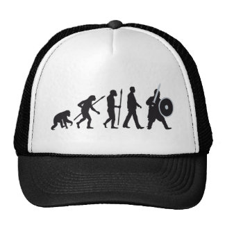 evolution OF one knight with sword and shield Trucker Hat