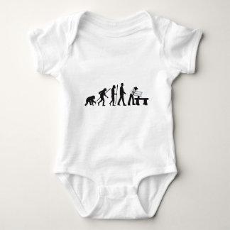 Evolution OF one more carpenter Baby Bodysuit