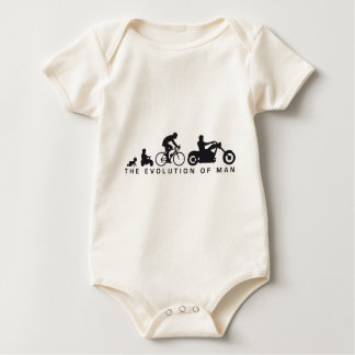 evolution OF one motorcycle more biker Baby Bodysuit