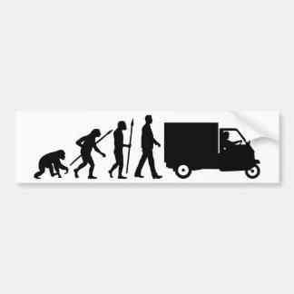 Evolution OF one Piaggio Ape mini transporter Bumper Sticker