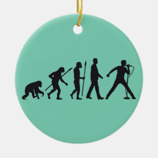evolution OF one rock metal more singer Ceramic Ornament
