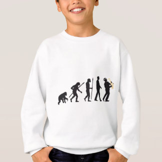 evolution OF one saxophones more player Sweatshirt