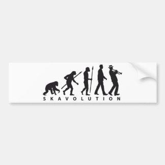 evolution OF one ska trumpet more player Bumper Sticker