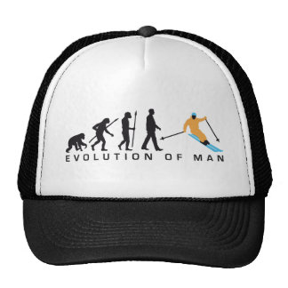 Evolution OF one skiing Trucker Hat