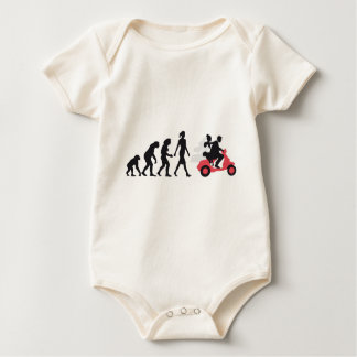 evolution OF one wedding more scooter Baby Bodysuit