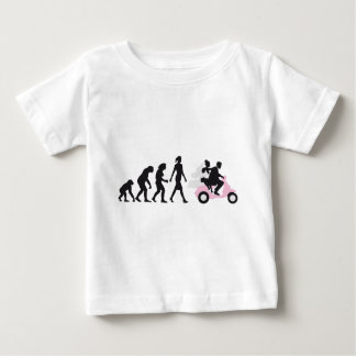 evolution OF one wedding more scooter Baby T-Shirt