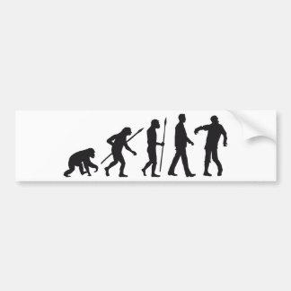 evolution OF one zombie walking DEAD Bumper Sticker