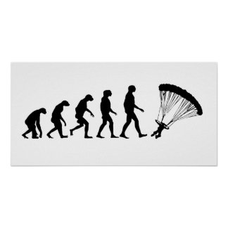 Evolution of Parachuting Poster