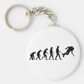 Evolution of Scuba Diving Keychain